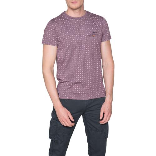 Vêtements Homme T-shirts manches courtes Deeluxe T-Shirt PASEO Plum