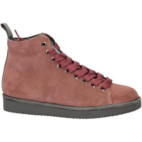 Chaussures Femme Baskets montantes Panchic P01 MID CUT SUEDE LINING ECO FUR brownrose-rosa