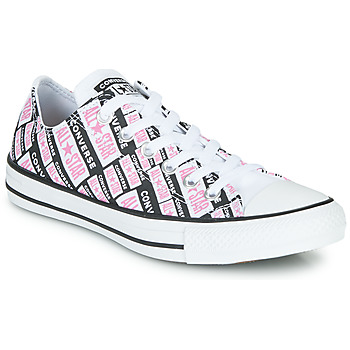 Chaussures Femme Baskets montantes Converse Chuck Taylor All Star Logo Play Blanc / Rose / Noir