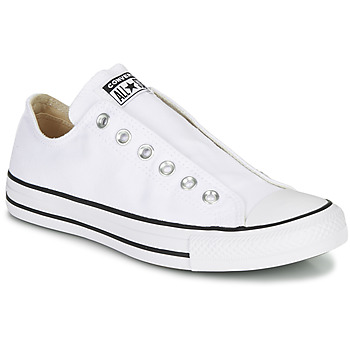 Chaussures Femme Slip ons Converse CHUCK TAYLOR ALL STAR SLIP CORE BASICS Blanc