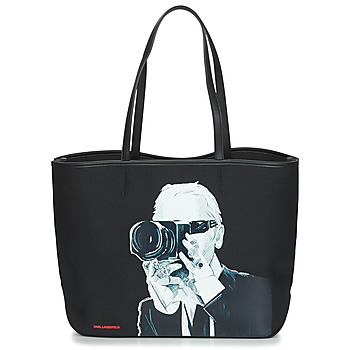 Sacs Cabas / Sacs shopping Karl Lagerfeld KARL LEGEND PHOTOGRAPHER Noir