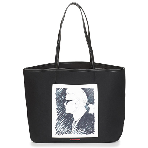 Sacs Cabas / Sacs shopping Karl Lagerfeld KARL LEGEND CANVAS TOTE Noir