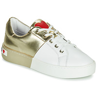 Chaussures Femme Baskets basses Love Moschino BI-COLOR SHOES Blanc / Doré