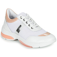 Chaussures Femme Baskets basses Love Moschino RUNNINLOVE Blanc / Rose