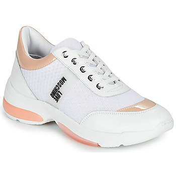 Chaussures Femme Baskets basses Love Moschino RUN LOVE Blanc / Rose