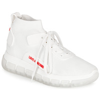 Chaussures Femme Baskets montantes Love Moschino JA15165GOA Blanc