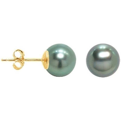 Montres & Bijoux Femme Boucles d'oreilles Blue Pearls BPS K620 W Doré