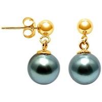 Montres & Bijoux Femme Boucles d'oreilles Blue Pearls BPS K621 W Doré