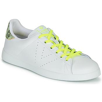 Chaussures Femme Baskets basses Victoria TENIS PIEL FLUO Blanc / Jaune