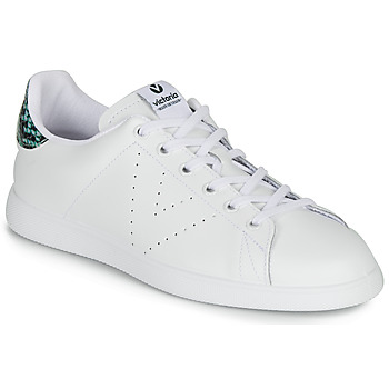 Chaussures Femme Baskets basses Victoria TENIS PIEL SERPIENTE Blanc / Bleu