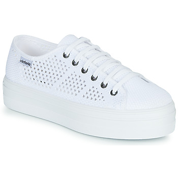 Chaussures Femme Baskets basses Victoria BARCELONA TRICOT Blanc