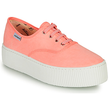 Chaussures Femme Baskets basses Victoria DOBLE FLUO Corail