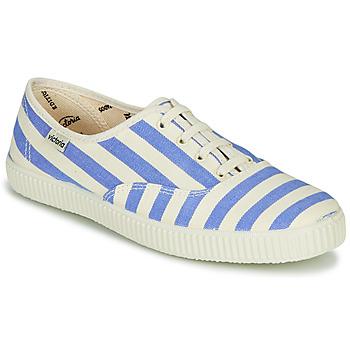 Chaussures Femme Baskets basses Victoria NUEVO RAYAS Blanc / Bleu