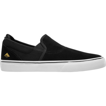 Chaussures Slip ons Emerica WINO G6 SLIP ON BLACK WHITE GOLD