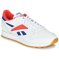 Chaussures Homme Baskets basses Reebok Classic CL LEATHER MARK Gris / Blanc / Rouge