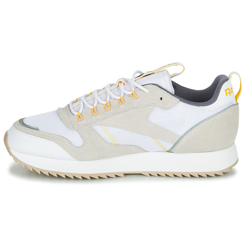 Prix Réduit Chaussures ihjdfh465DHU Reebok Classic CL LEATHER RIPPLE T Beige / blanc