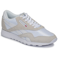 Chaussures Baskets basses Reebok Classic CL NYLON Blanc / Beige