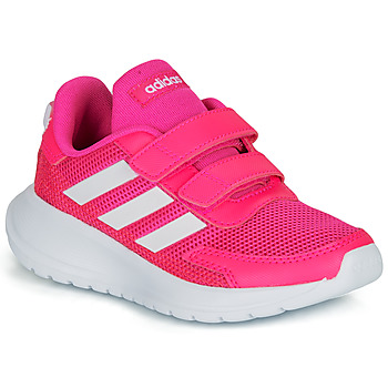 Chaussures Fille Baskets basses adidas Performance TENSAUR RUN C Rose / blanc