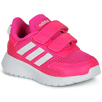 Chaussures Fille Baskets basses adidas Performance TENSAUR RUN I Rose / blanc