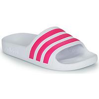 Chaussures Fille Claquettes adidas Performance ADILETTE AQUA K Blanc / Rose