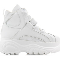 Chaussures Femme Baskets montantes Buffalo Chaussures femme  Blanco Nappa Leather blanc/noir