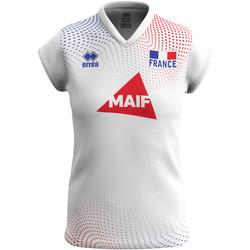 Vêtements Femme T-shirts manches courtes Errea Maillot femme extérieur Equipe de france 2020 blanc