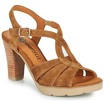 Chaussures Femme Sandales et Nu-pieds Mam'Zelle TIMBA Cognac