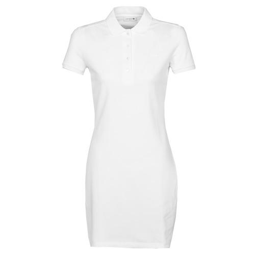 Vêtements Femme Robes courtes Lacoste EUGENIE Blanc