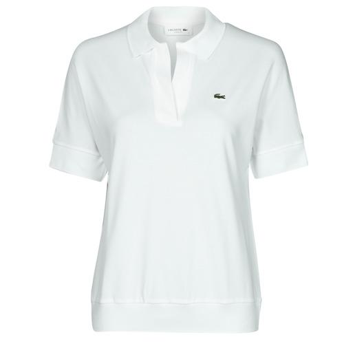 Vêtements Femme Polos manches courtes Lacoste BERRY Blanc