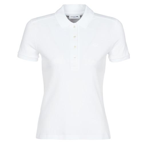 Vêtements Femme Polos manches courtes Lacoste ADRIANNO Blanc