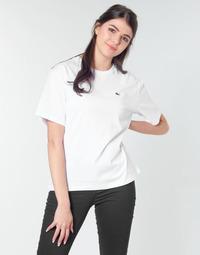 Vêtements Femme T-shirts manches courtes Lacoste BENOIT Blanc