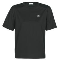 Vêtements Femme T-shirts manches courtes Lacoste BERNARD Noir