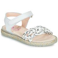 Chaussures Fille Sandales et Nu-pieds Pablosky MINNA Blanc / Argenté