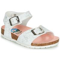 Chaussures Fille Sandales et Nu-pieds Pablosky  Blanc / Argenté