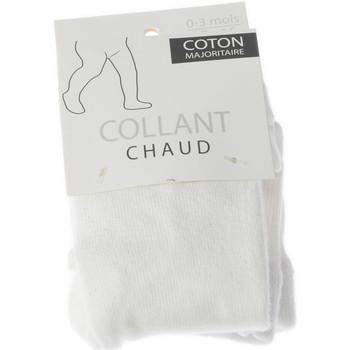 Sous-vêtements Enfant Collants & bas Bjm Collant chaud - Coton - Ultra opaque ecru