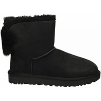 Chaussures Femme Bottines UGG MINI PUFF CRYSTAL BOW black-nero