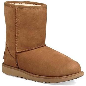 Chaussures Fille Bottes de neige Ugg Australia Kids K CLASSIS SHORT II WP Marron