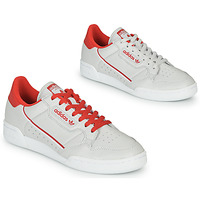 Chaussures Baskets basses adidas Originals CONTINENTAL 80 Beige / Rouge