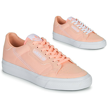 Chaussures Fille Baskets basses adidas Originals CONTINENTAL VULC J Rose
