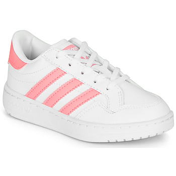 Chaussures Fille Baskets basses adidas Originals Novice C Blanc / Rose