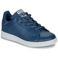 Chaussures Garçon Baskets basses adidas Originals STAN SMITH C Bleu