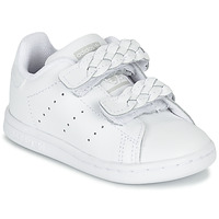 Chaussures Fille Baskets basses adidas Originals STAN SMITH CF I Blanc / tresse