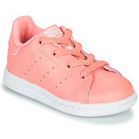 Chaussures Fille Baskets basses adidas Originals STAN SMITH EL I Rose