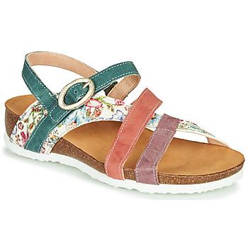 Chaussures Femme Sandales et Nu-pieds Think JULIA Rouge / Vert / Blanc