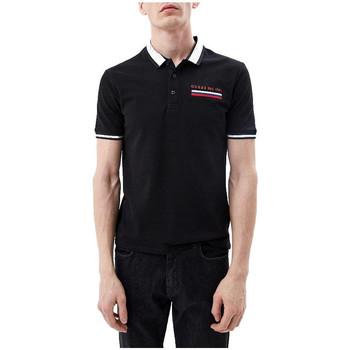 Vêtements Homme Polos manches courtes Guess Polo Homme Jeffrey Noir M91P23 38