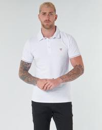 Vêtements Homme Polos manches courtes Guess AMIAS SS POLO Blanc
