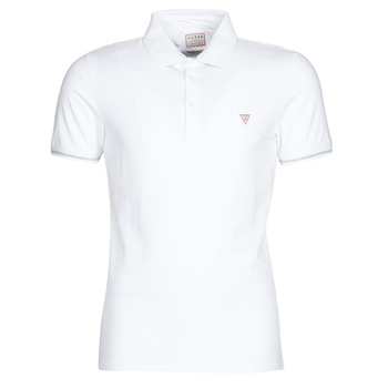 Vêtements Homme Polos manches courtes Guess AMIAS SS POLO Blanc