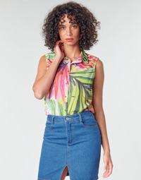 Vêtements Femme Tops / Blouses Guess SL CLOUIS SHIRT Multicolore