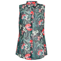 Vêtements Femme Tops / Blouses Guess SL CLOUIS SHIRT Noir / Vert / Rouge
