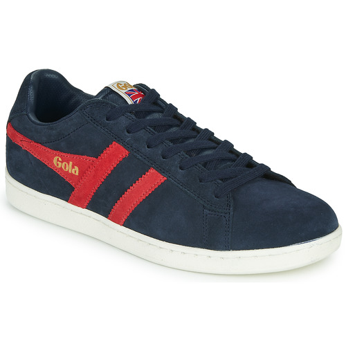 Chaussures Homme Baskets basses Gola EQUIPE SUEDE Marine / rouge